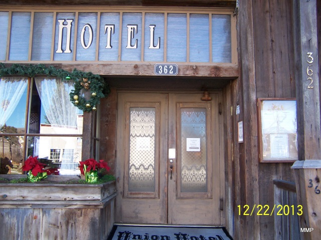Union Hotel Door In Los Alamos, California